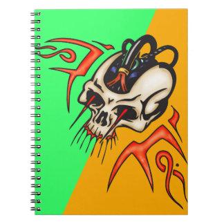 Wired Cyborg Skull Notebook