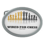 Wired For Chess (Reflective Chess Set) Belt Buckles