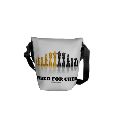 Wired For Chess (Reflective Chess Set) Courier Bag