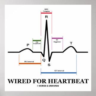 ekg posters zazzle wired for heartbeat ecg ekg electrocardiogram poster