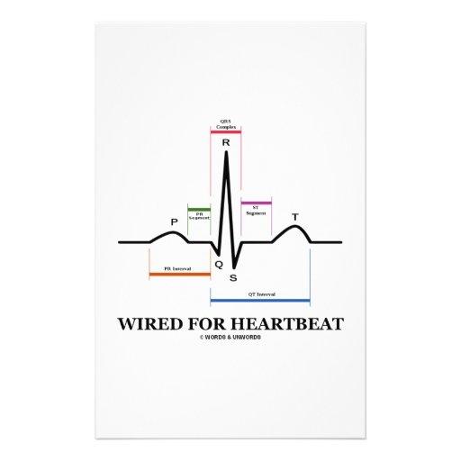 Wired For Heartbeat (ECG/EKG Sinus Rhythm) Customized Stationery