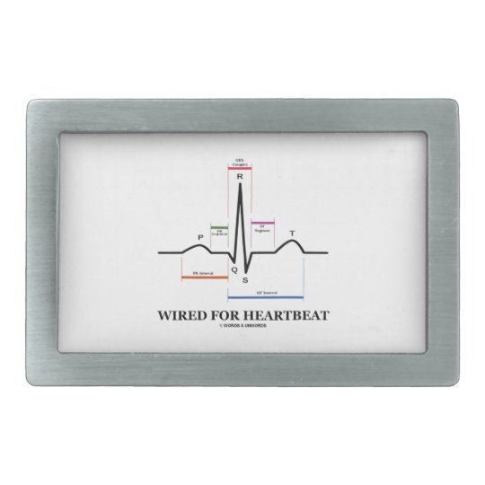 Wired For Heartbeat (Electrocardiogram) Belt Buckle