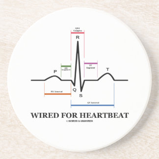 Wired For Heartbeat (Electrocardiogram) Drink Coaster
