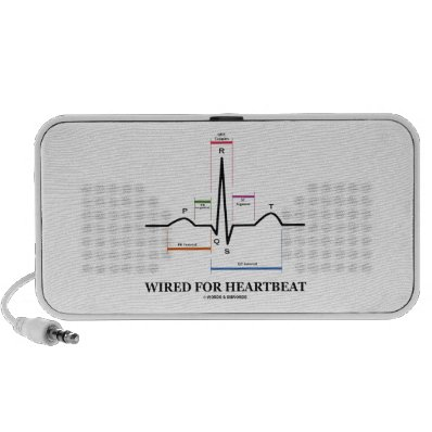 Wired For Heartbeat (Electrocardiogram) Mp3 Speakers