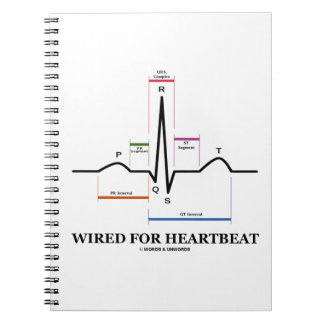 Wired For Heartbeat (Electrocardiogram) Spiral Notebook