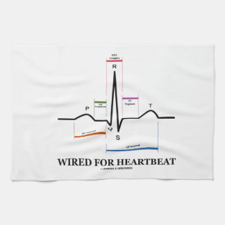 Wired For Heartbeat (Electrocardiogram) Towels