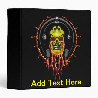 Wired For Sound Cyborg Skull Binder