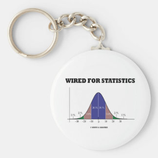 Wired For Statistics Bell Curve Stats Attitude Keychain