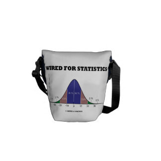 Wired For Statistics (Bell Curve Stats Attitude) Messenger Bag