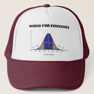 Wired For Statistics (Bell Curve Stats Attitude) Trucker Hat