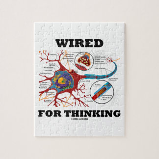 Wired For Thinking (Neuron Synapse) Jigsaw Puzzle