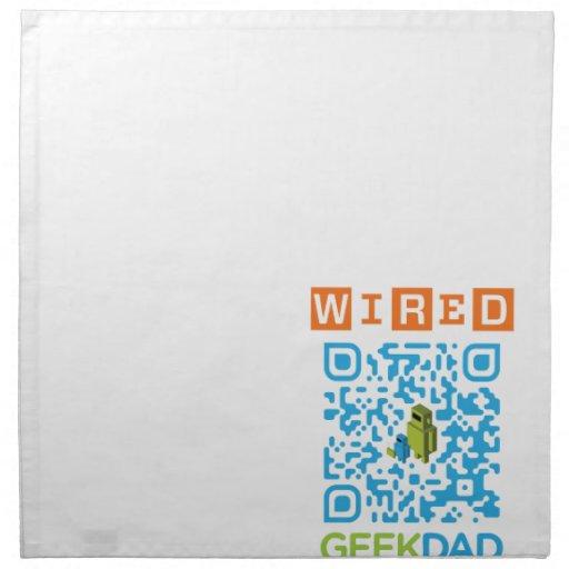 Wired Geek Dad QR Code Napkins