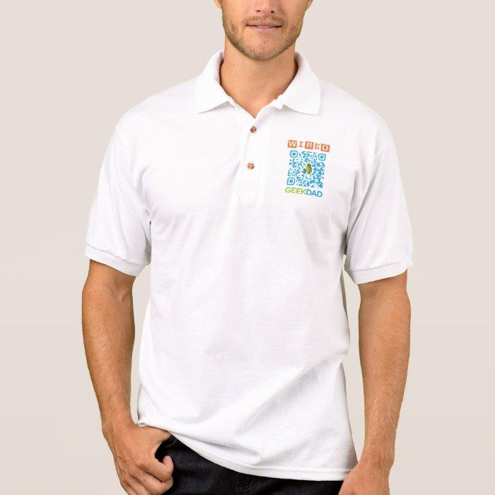 Wired Geek Dad QR Code Polo Shirt