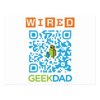 Wired Geek Dad QR Code Postcard