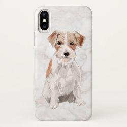 Case-Mate Barely There Apple iPhone XS Case with Jack Russell Terrier Phone Cases design