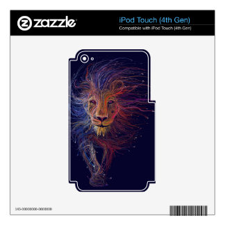 Wired Lion iPod Touch 4G Decals