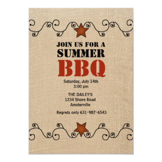 Wired Red Star BBQ Invitation