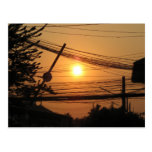Wired Sunset ... Krung Thep, Thailand Post Cards