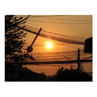 Wired Sunset ... Krung Thep, Thailand Postcard
