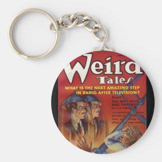 Wired Tales_Pulp Art Basic Round Button Keychain