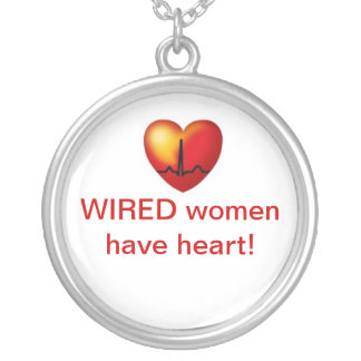 Wired women have heart necklace