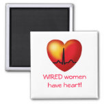 WIRED women have heart  square magnet