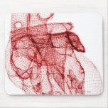Wireframe de Digitaces del corazón humano Tapetes De Ratones