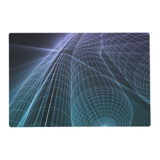 Wireframe Mesh Engineering Abstract as a Concept Laminated Place Mat
