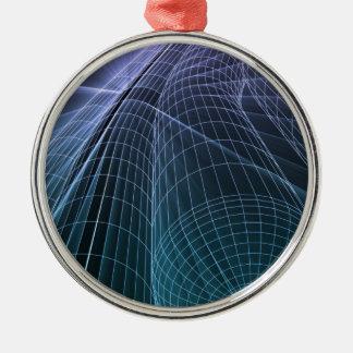 Wireframe Mesh Engineering Metal Ornament