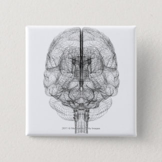 Wireframe of the brain button