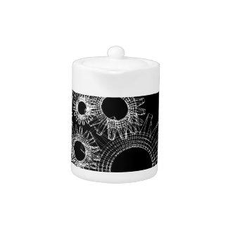 Wireframe, skeleton three-dimensional model teapot