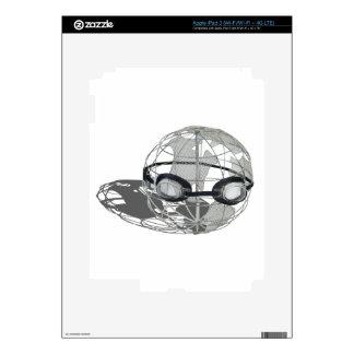 WireGlobeWearingGoggles032112.png Decal For iPad 3