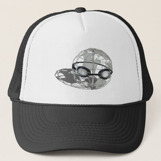 WireGlobeWearingGoggles032112.png Trucker Hat