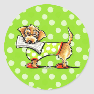 Wirehaired Dachshund Apple Classic Round Sticker