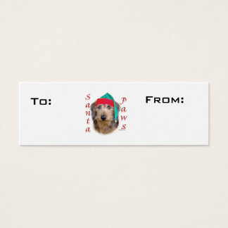 Wirehaired Dachshund Paws Gift Tags