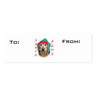 Wirehaired Dachshund Paws Gift Tags Business Cards