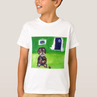 Wirehaired dachshund senses smiling moon T-Shirt