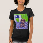 wirehaired dachsund senses smiling moon tshirts