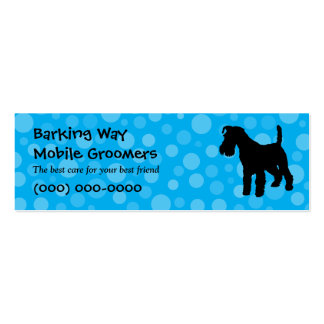 Wirehaired Fox Terrier Pet Care Blue Business Card Templates