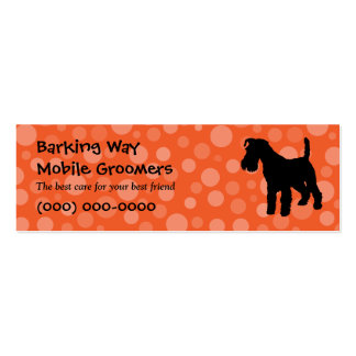 Wirehaired Fox Terrier Pet Care Orange Business Card Templates