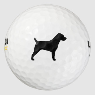 Wirehaired Jack Russell Terrier Silhouette Golf Balls