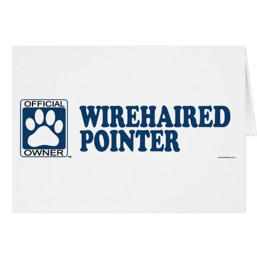 WIREHAIRED POINTER_blue Card