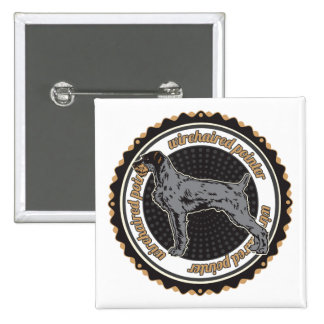 Wirehaired Pointer 2 Inch Square Button