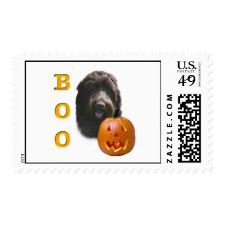 Wirehaired Pointing Griffon Boo Postage Stamps