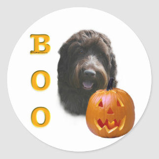 Wirehaired Pointing Griffon Boo Classic Round Sticker