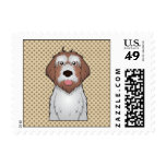 Wirehaired Pointing Griffon Cartoon Postage