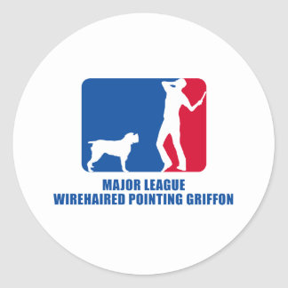 Wirehaired Pointing Griffon Classic Round Sticker