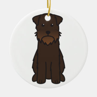 Wirehaired Pointing Griffon Dog Cartoon Ceramic Ornament
