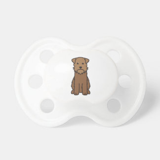 Wirehaired Pointing Griffon Dog Cartoon Baby Pacifier