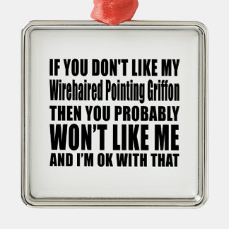 Wirehaired Pointing Griffon Dog Designs Metal Ornament